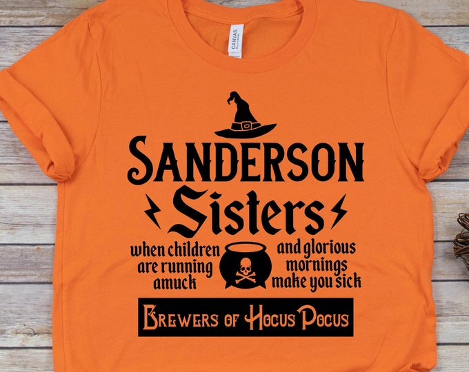 Sanderson Sisters Brewers- Hocus Pocus - Adult, Youth, Toddler, and Tanks-Over 100 Color Choices
