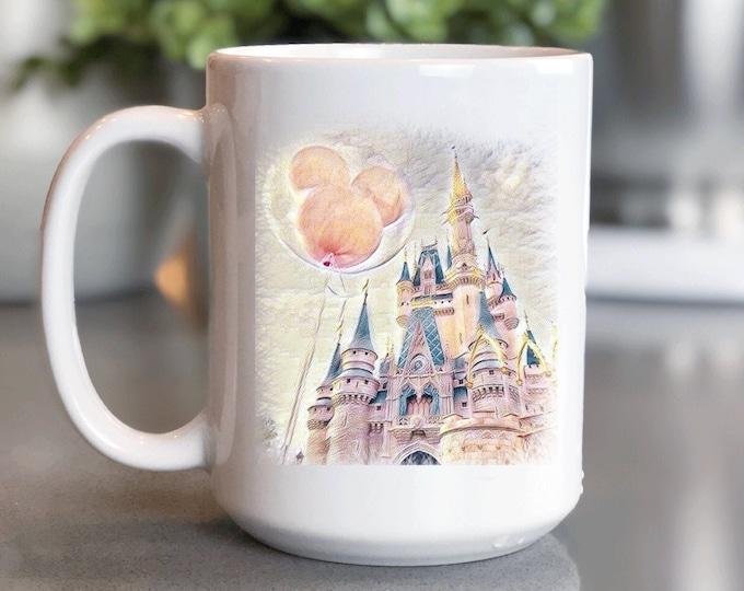 Disney Coffee Mug 15oz, All Things Disney, Disneyland, Magic Kingdom Mug, Coffee Cup Gift for Him Her, Souvenir, Custom Sublimation Design