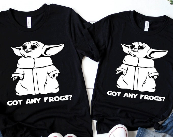 Baby Alien Got Any Frogs? - Yoda - Star Wars - Galaxy's Edge - Mandalorian - Disney - Adult, Youth, Toddler, and Tanks, Tie-Dye
