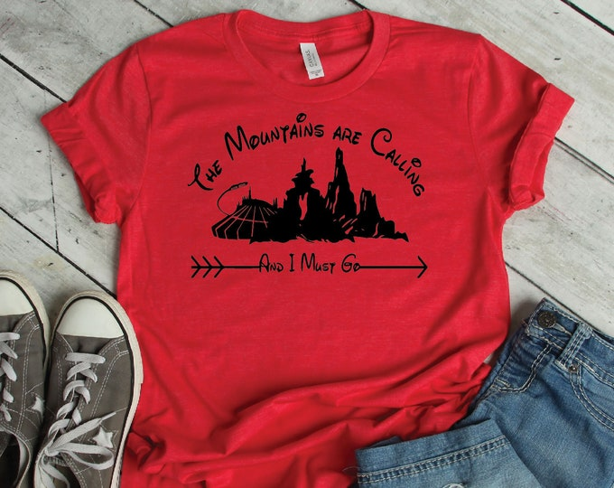 The Mountains Are Calling- Magical Vacation Tee - Adult, Youth, Toddler, and Tanks-Over 100 Color Choices