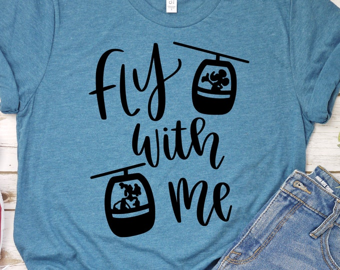 Fly With Me - Adult, Youth, Toddler, and Tanks-Over 100 Color Choices