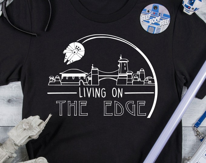 Living On The Edge - Adult, Youth, Toddler, and Tanks-Over 100 Color Choices