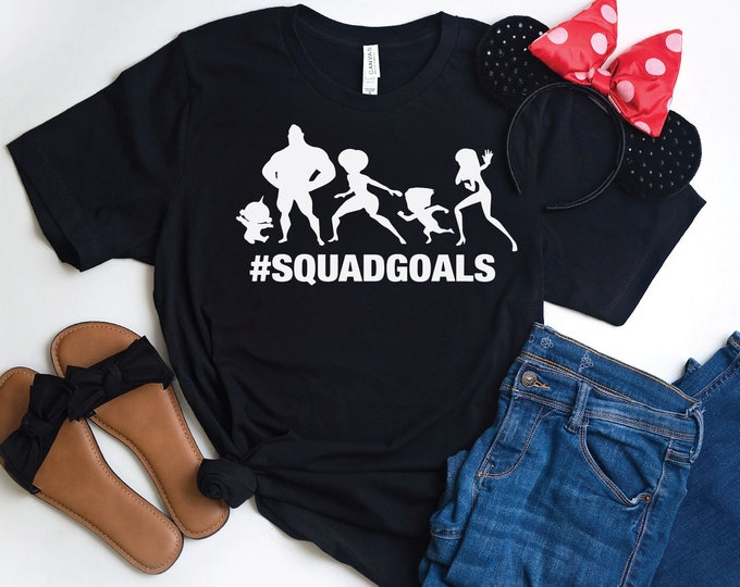 Incredibles Squad Goals-  Magical Vacation Tee - Adult, Youth, Toddler, and Tanks-Over 100 Color Choices