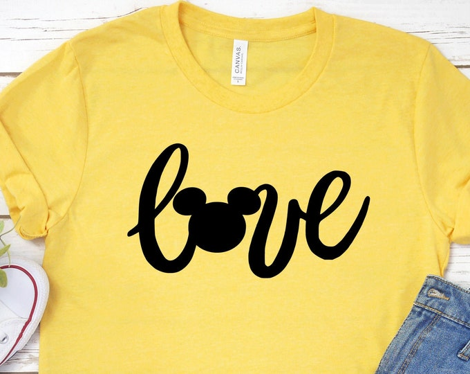 Love and the Mouse - Mickey Love - Disney Love - Magic Kingdom - Magical Vacation Tee - Adult, Youth, Toddler, and Tanks, Tie-Dye