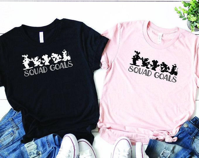 Disney Pals Squad Goals -  Magical Vacation Tee - Adult, Youth, Toddler, and Tanks-Over 100 Color Choices