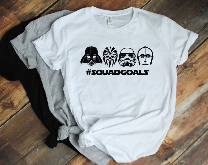 Star Wars Squad Goals -  Magical Vacation Tee - Adult and Youth sizes