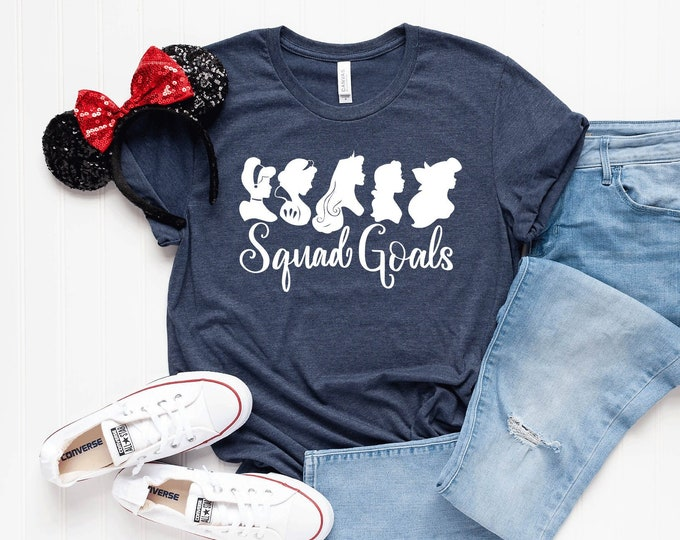 Princess Squad Goals-  Magical Vacation Tee - Adult, Youth, Toddler, and Tanks-Over 100 Color Choices