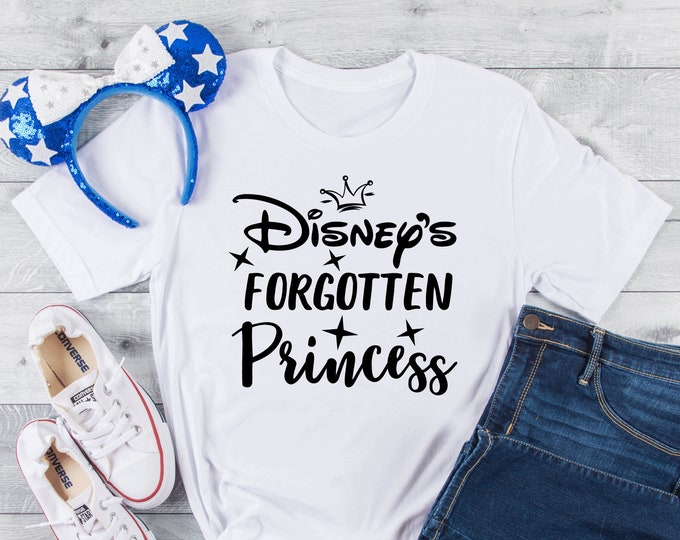 Disney's Forgotten Princess-  Magical Vacation Tee - Adult, Youth, Toddler, and Tanks-Over 100 Color Choices