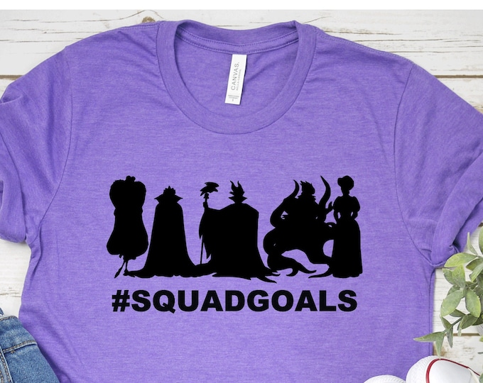 Villains Squad Goals- Disney Villains - Magical Vacation Tee - Adult, Youth, Toddler, and Tanks-Over 100 Color Choices, Tie-Dye