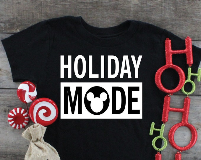 Holiday Mode, Disneys Very Merry Christmas, Magical Vacation Tee, Adult Youth Toddler and Tanks, Tie-Dye
