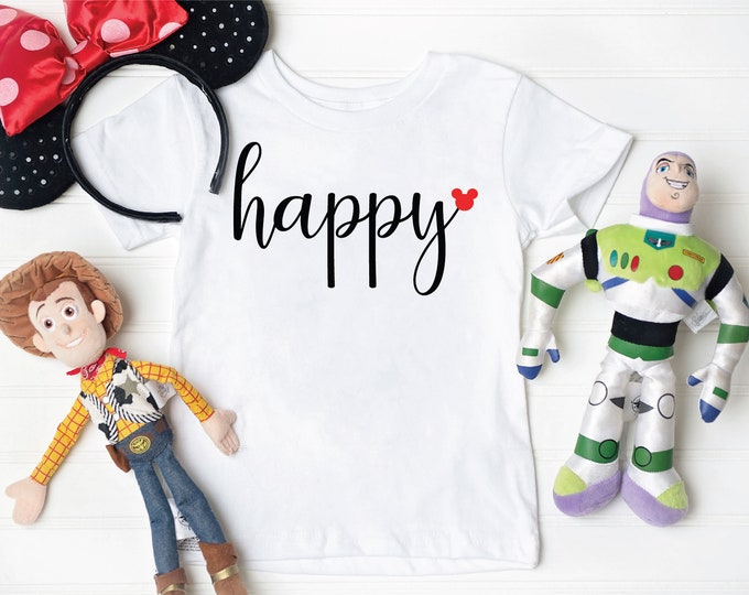 Happy Mickey -  Magical Vacation Tee - Adult and Youth sizes