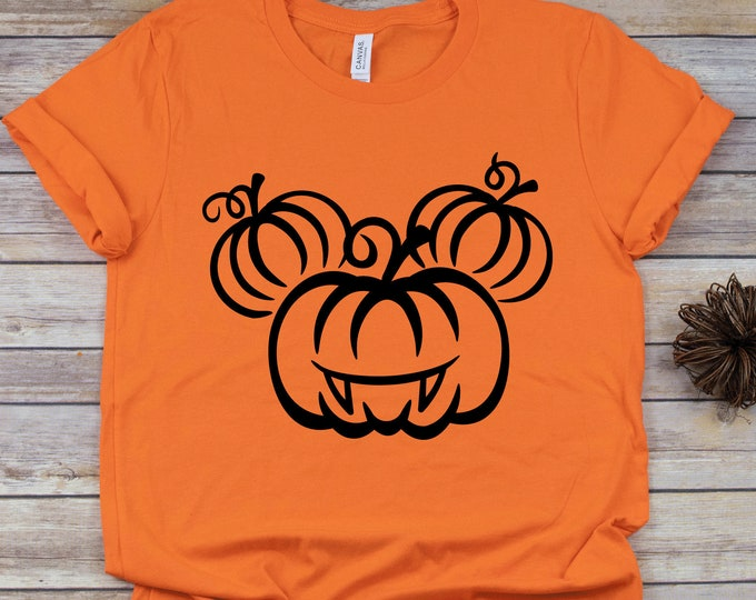 Halloween Mickey Pumpkin Head -  Magical Vacation Tee - Adult, Youth, Toddler, and Tanks-Over 100 Color Choices