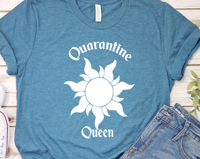 Quarantine Queen, Rapunzel, Tangled, Disney Princess, Adult Youth Toddler and Tanks, Tie-Dye