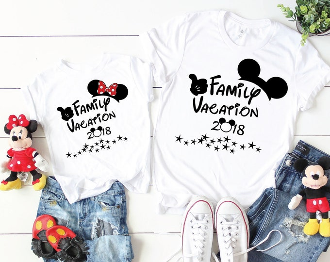 Disney Family Vacation 2018-  Magical Vacation Tee - Adult, Youth, Toddler, and Tanks-Over 100 Color Choices
