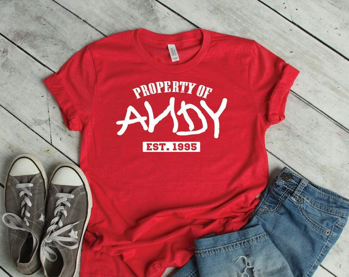 Toy Story- Property of Andy -  Magical Vacation Tee - Adult, Youth, Toddler, and Tanks-Over 100 Color Choices