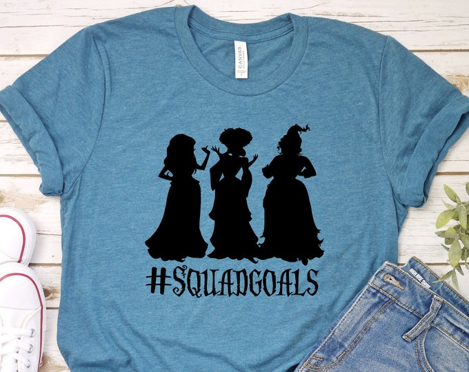 Squad Goals- Hocus Pocus - Adult, Youth, Toddler, and Tanks-Over 100 Color Choices, Tie-Dye