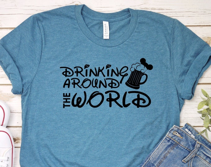 Drinking Around The World - Disney Beer - Epcot - Adult, Youth, Toddler, and Tanks