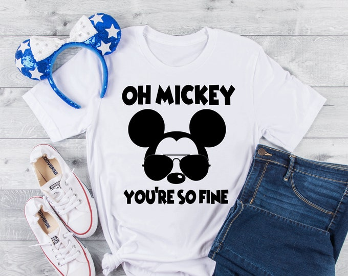 Oh Mickey You're So Fine-  Magical Vacation Tee - Adult and Youth sizes