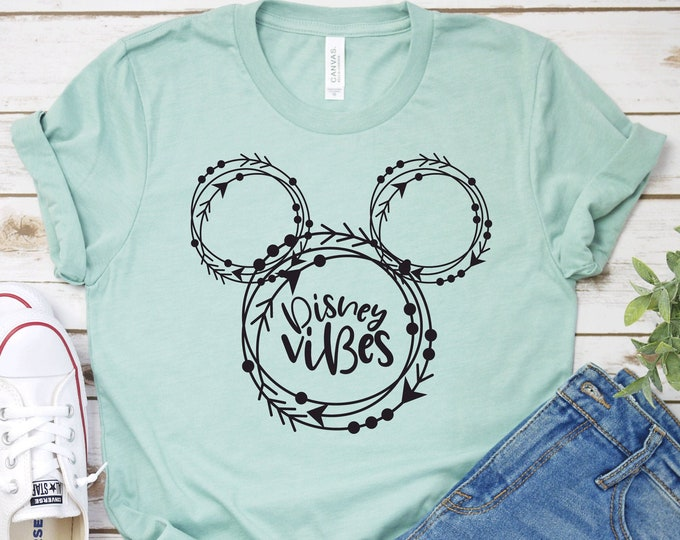Disney Vibes- Adult, Youth, Toddler, and Tanks-Over 100 Color Choices