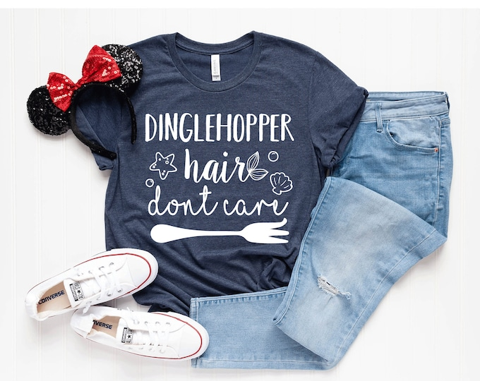 Dinglehopper Hair Don't Care -  Magical Vacation Tee - Adult and Youth sizes