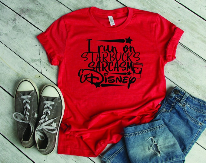 I Run on Starbucks -  Magical Vacation Tee - Adult, Youth, Toddler, and Tanks-Over 100 Color Choices