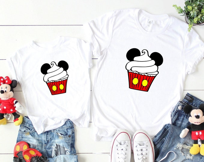 Mickey Cupcake-  Magical Vacation Tee - Adult, Youth, Toddler, and Tanks-Over 100 Color Choices