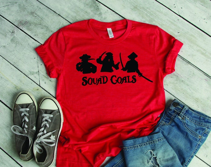Pirate Squad Goals -  Magical Vacation Tee - Adult, Youth, Toddler, and Tanks-Over 100 Color Choices