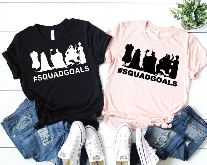 Villains Squad Goals-  Magical Vacation Tee - Adult and Youth sizes