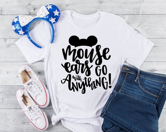 Mouse Ears Go with Anything-  Magical Vacation Tee - Adult, Youth, Toddler, and Tanks-Over 100 Color Choices