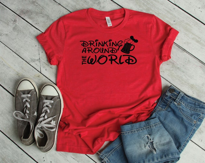 Drinking Around The World -Beer- Adult and Youth sizes