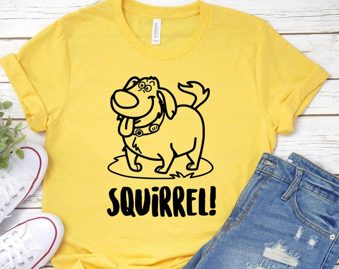 Squirrel, The Movie Up, Dug, Carl Fredricksen, Russell, Disney Shirts, Adult Youth Toddler and Tanks, Tie-Dye