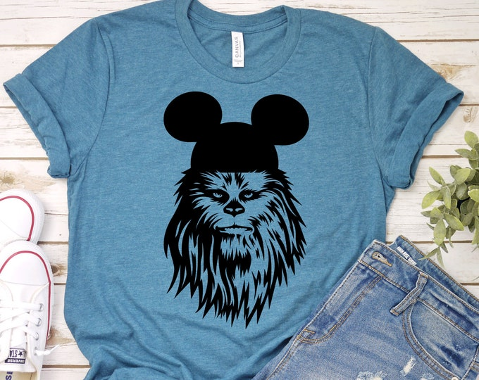 Chewbacca Mickey  - Adult, Youth, Toddler, and Tanks-Over 100 Color Choices