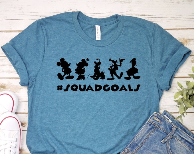 Fab Five Squad Goals -  Magical Vacation Tee - Adult, Youth, Toddler, and Tanks-Over 100 Color Choices