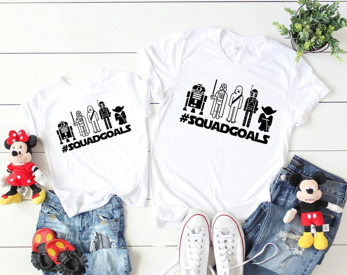 Star Wars Squad Goals Toons - Adult and Youth sizes