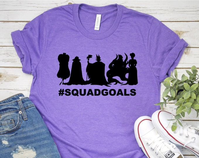 Villains Squad Goals-  Magical Vacation Tee - Adult, Youth, Toddler, and Tanks-Over 100 Color Choices