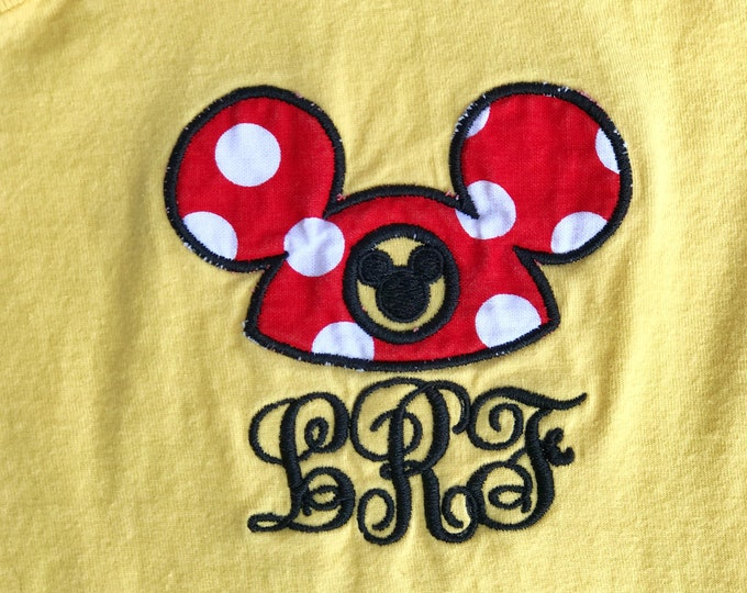 V Neck short sleeve tee - Rockin' the Mouse Hat Ears - what could be better :)