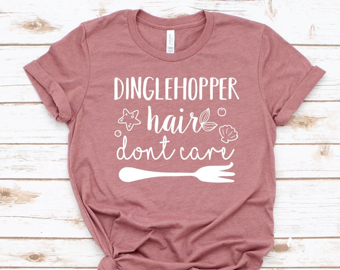Dinglehopper Hair Don't Care -  Magical Vacation Tee - Adult, Youth, Toddler, and Tanks-Over 100 Color Choices