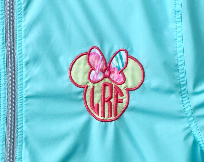 Lilly and the mouse in a light weight pack-n-go pullover