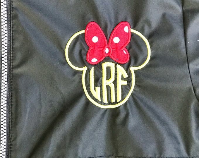Ms. Mouse monogrammed Charles River Rain Coat - 14 great color choices