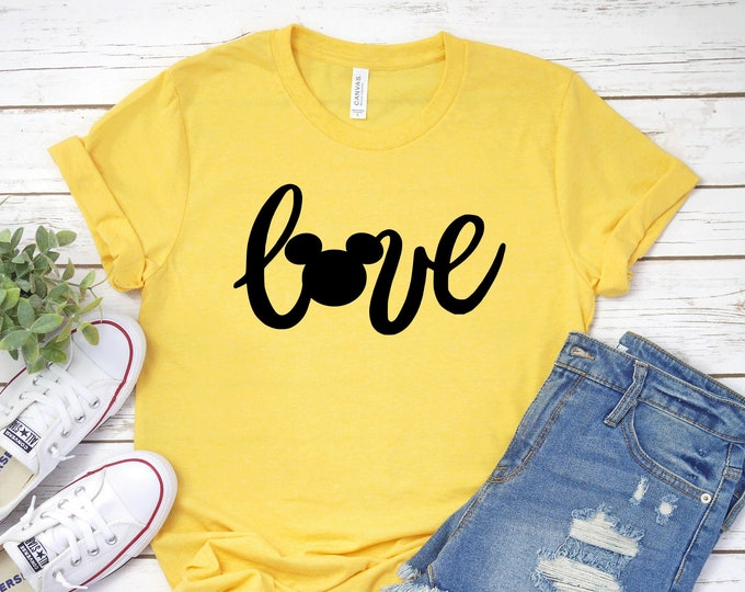 Love and the Mouse Magical Vacation Tee - Adult, Youth, Toddler, and Tanks-Over 100 Color Choices