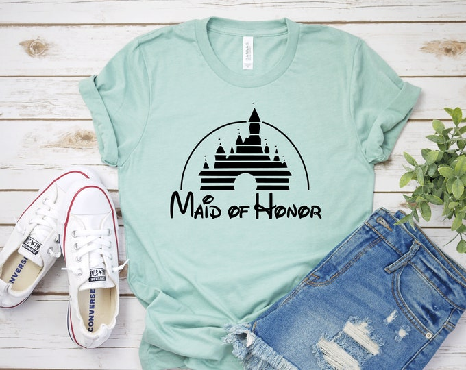 Disney Maid of Honor - Adult, Youth, Toddler, and Tanks-Over 100 Color Choices