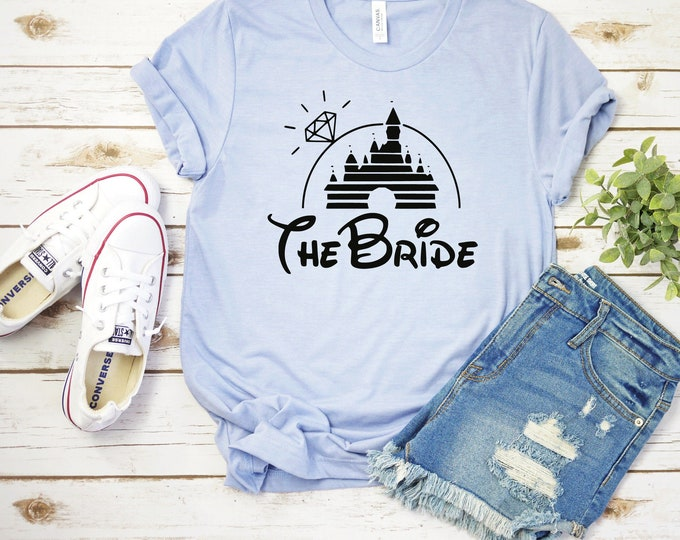 Disney Bride- Adult, Youth, Toddler, and Tanks-Over 100 Color Choices