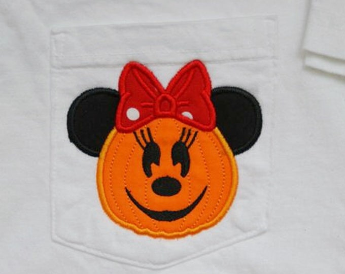 LONG SLEEVE - Ms. Mouse Pumpkin - perfect for Halloween in the park