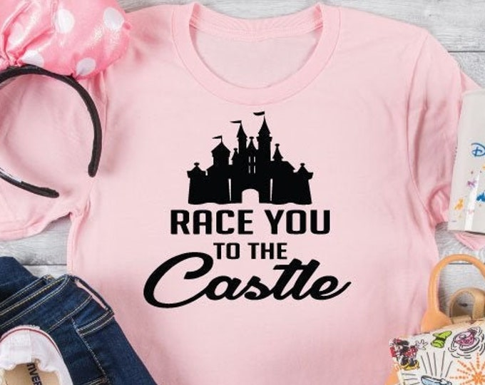 Race You to the Castle - Magic Kingdom -  Magical Vacation Tee - Adult, Youth, Toddler, and Tanks-Over 100 Color Choices, Tie-Dye