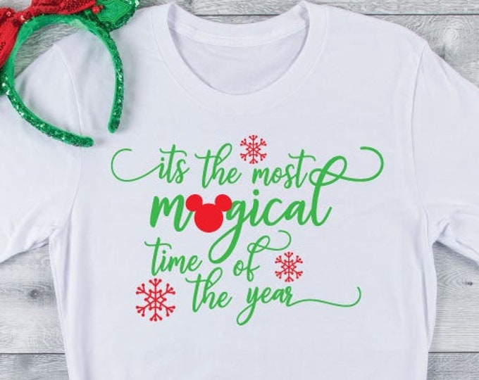 Magical Time of Year - Disney Christmas - Magic Kingdom -  Magical Vacation Tee - Adult, Youth, Toddler, and Tanks-Over 100 Color Choices