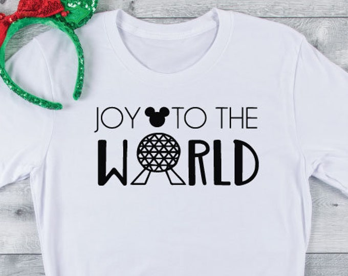 Joy To The World-  Disney Christmas - Very Merry Christmas -  Epcot - Magical Vacation Tee - Adult, Youth, Toddler, and Tanks, Tie-Dye