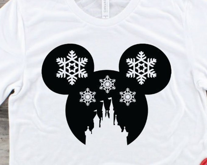 Disney Snowflake- Disney Christmas- Magical Vacation Tee - Adult, Youth, Toddler, and Tanks-Over 100 Color Choices, Tie-Dye