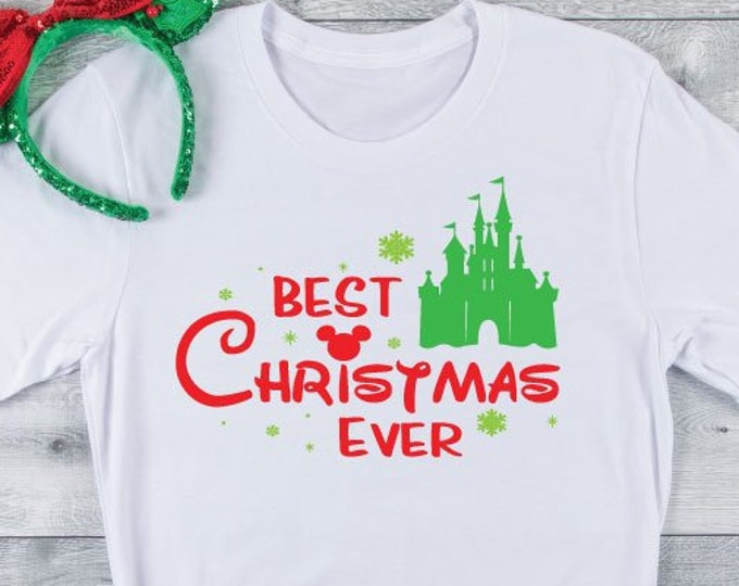 Best Christmas Ever- Disney Christmas -  Magical Vacation Tee - Adult, Youth, Toddler, and Tanks-Over 100 Color Choices, Tie-Dye