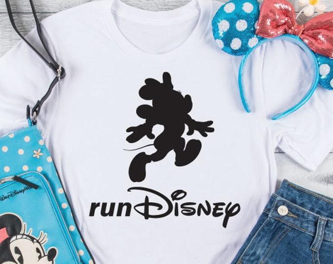 Minnie Mouse, Run Disney Marathon, Disney 5K, Adult Youth Toddler and Tanks, Tie-Dye