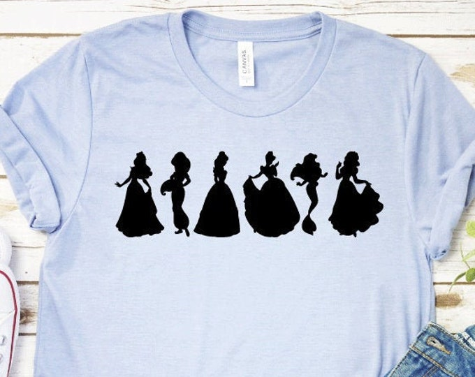 Disney Princess Squad Shirt, Princess Squad, Disney Princesses Shirts, Magical Vacation Tee, Adult Youth Toddler and Tanks, Tie-Dye